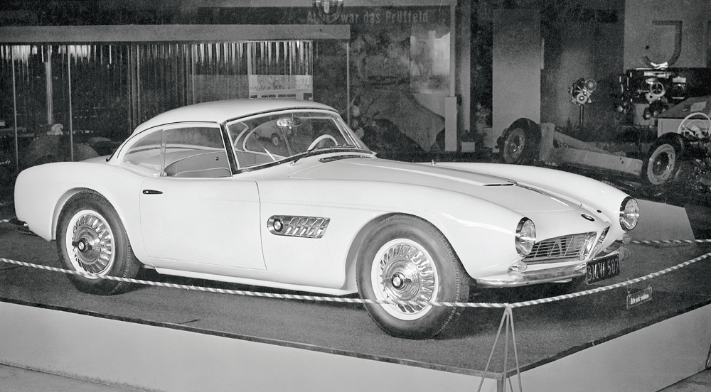 BMW 507 With Hard Top At The IAA Frankfurt Motor Show In September 1955