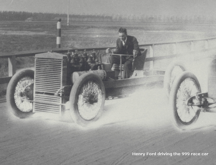 Henry Ford driving the 999 race car