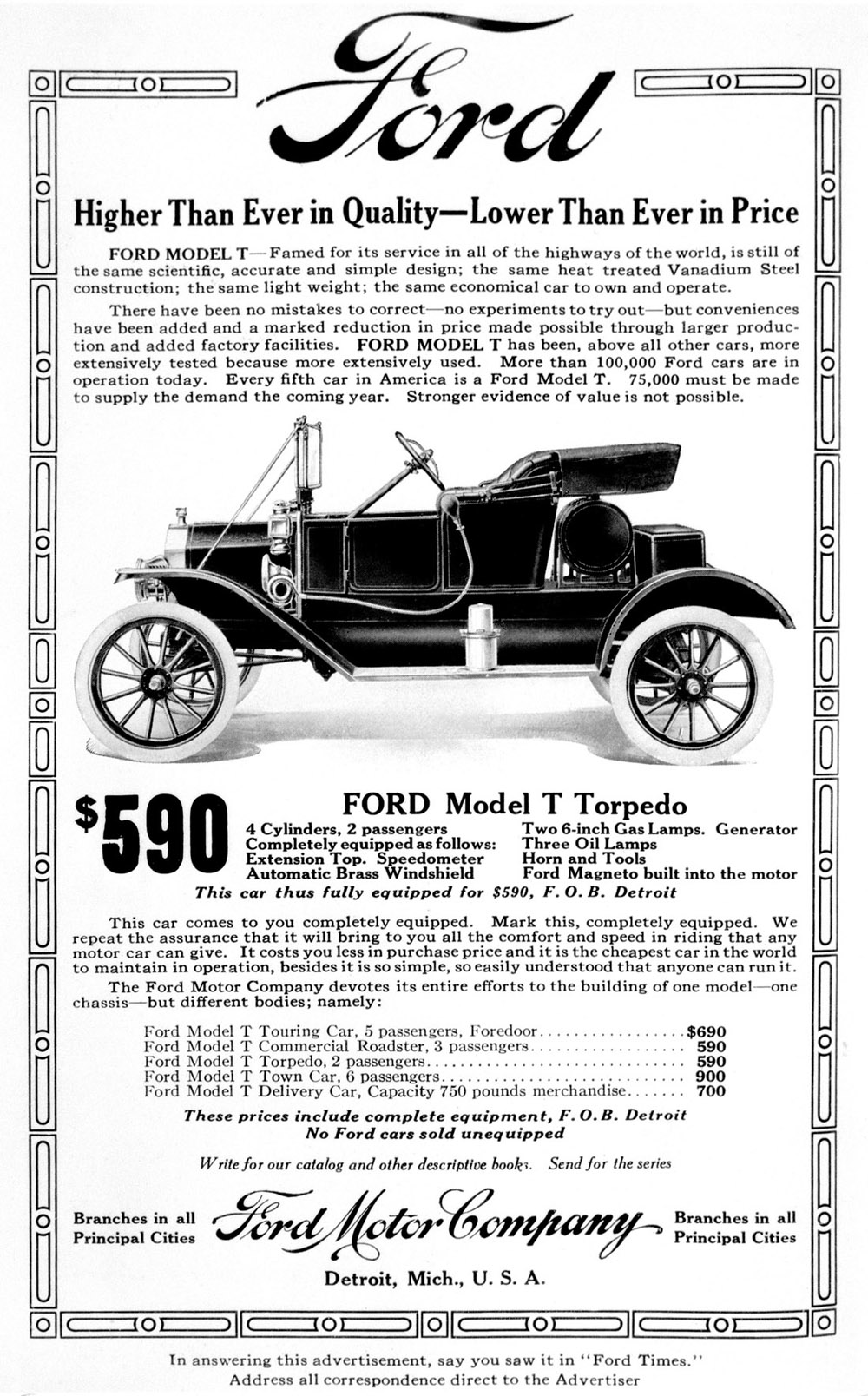 Ford Model T Advertisement
