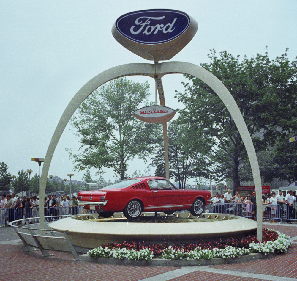 Ford Mustang At The 1964 Worlds Fair In New York Fastback 1965 Front Pavilion