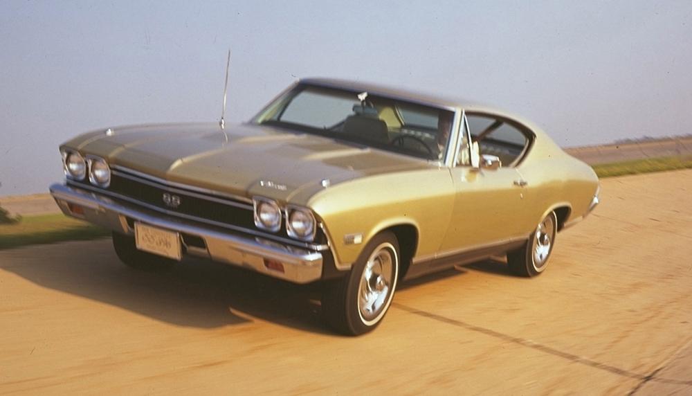 1968-1969 ChevySS 427 Front Marker Light Chrome Bezels Pair