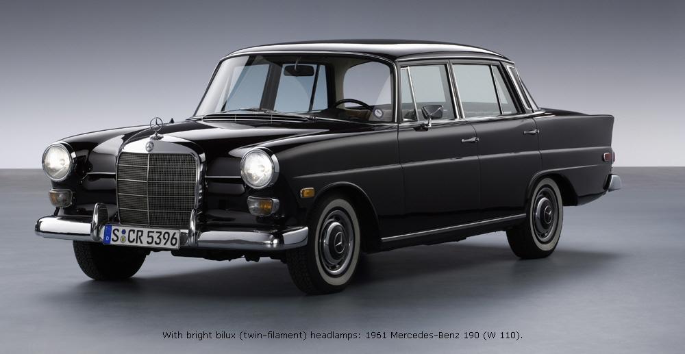 1961 To 1968 Mercedesbenz 110 Series. With Bright Bilux Twinfilament Headls 1961 Mercedesbenz 190. Mercedes Benz. For Mercedes Benz 190e Parts Diagrams At Scoala.co