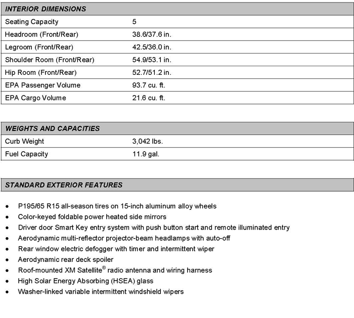 toyota prius specifications dimensions