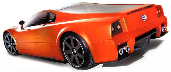 An Exotic Sports Car Badged As A Vw Believe It Volkswagen Showed Its Third Iteration Of The W12 Coupe At 2001 Tokyo Motor Show