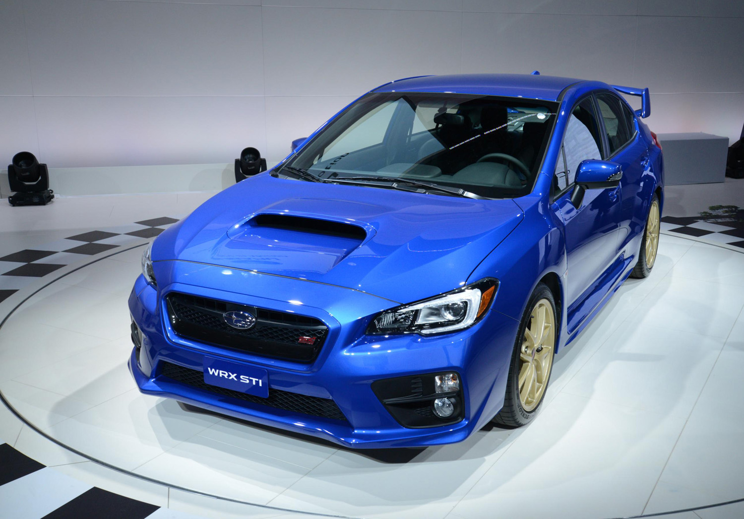 all new 2015 subaru wrx sti debuts at naias in detroit. Black Bedroom Furniture Sets. Home Design Ideas