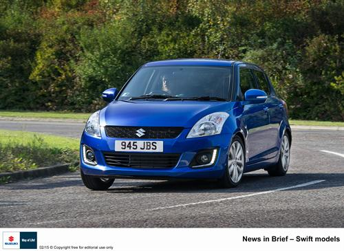 Suzuki GB PLC announces some minor changes to the Swift and S-Cross ranges