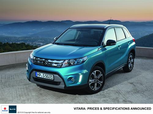 THE ALL NEW SUZUKI VITARA – PRICES AND SPECIFICATIONS ANNOUNCED