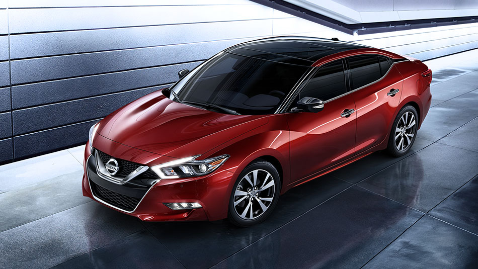 2016 Nissan Maxima Coulis Red Aerial Side View