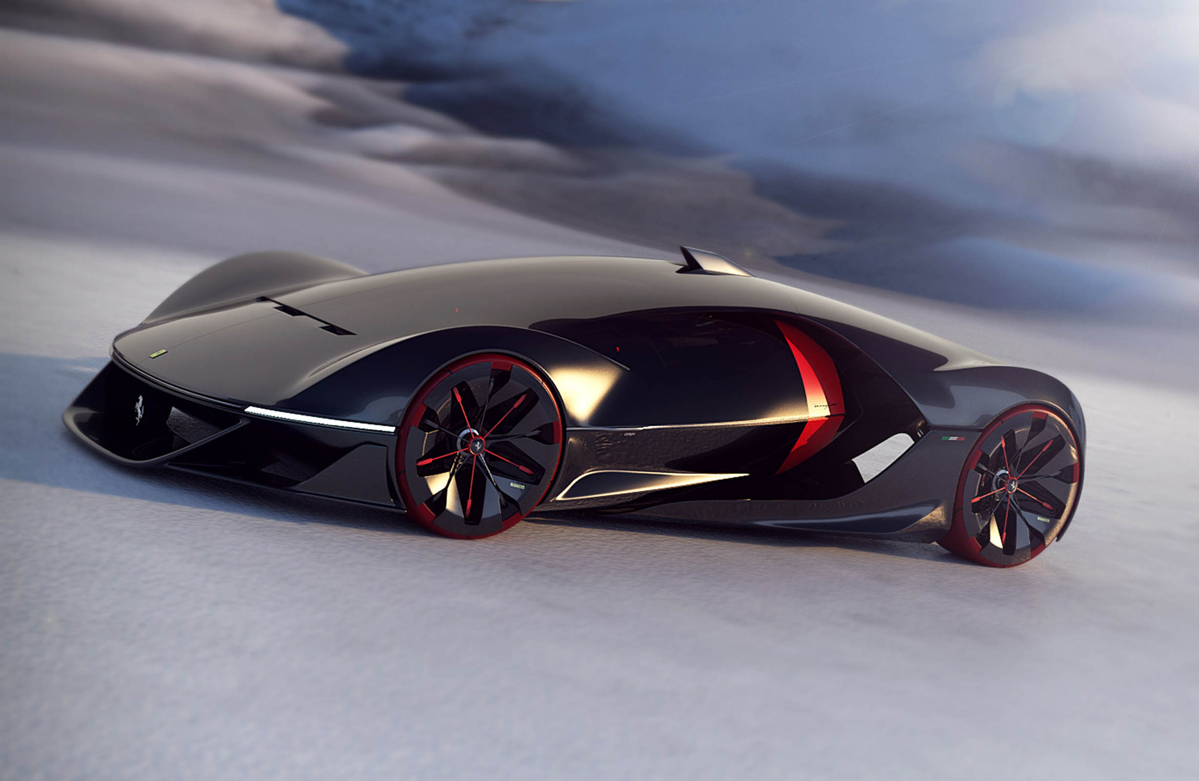 160031 Car Ferrari  Concorso Design GranPremio_Manifesto_Barthly Kalyvianakis Gervex Oleksiak Epinat Stock_Image1