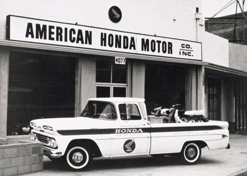 In 1959 American Honda established itself in the U.S. selling motorcycles out of a small storefront in Los Angeles, Calif.