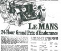 1929 Bentley Le Mans poster