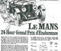1929 Bentley Le Mans poster