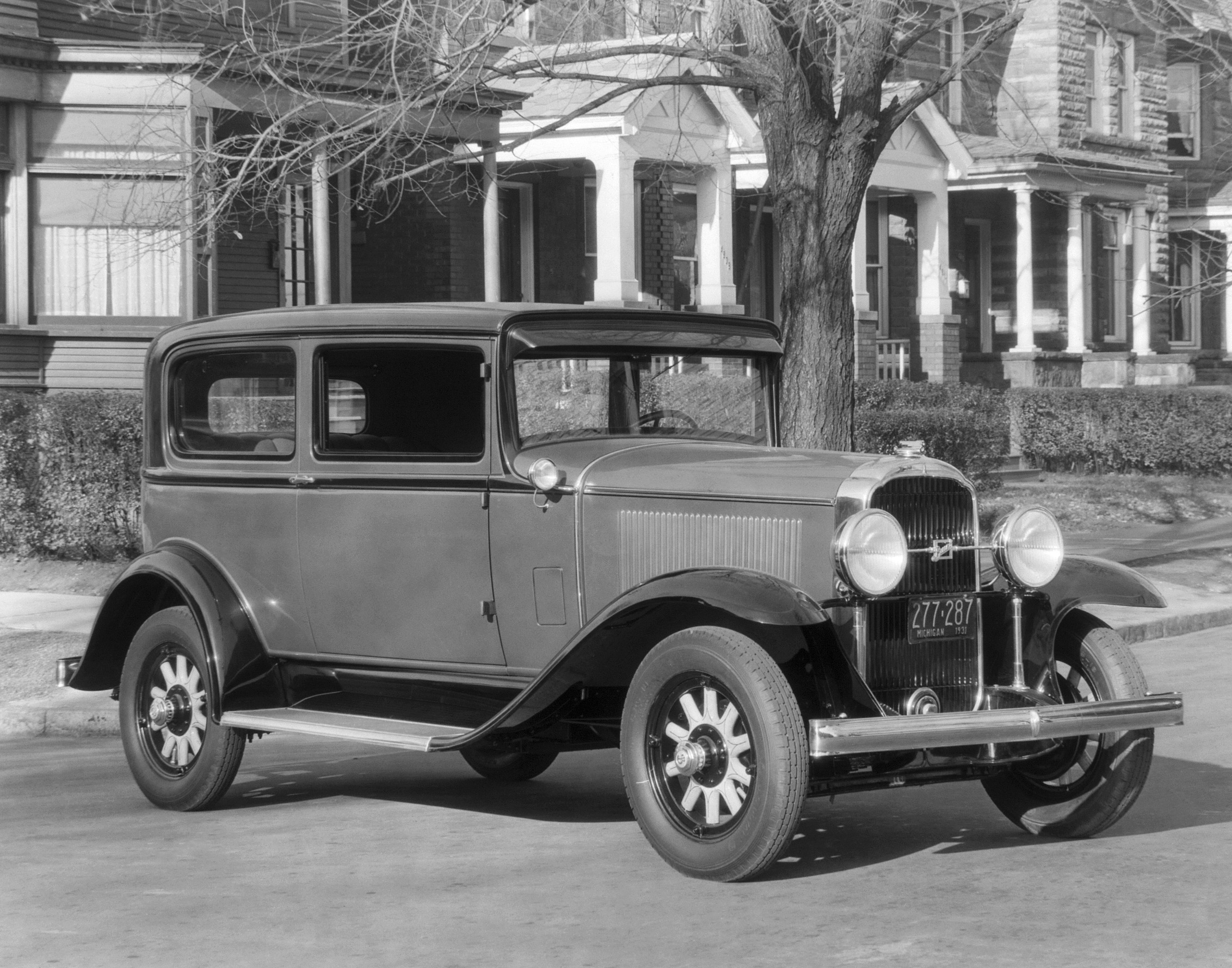 In 1931, Buick got powerful new eight-cylinder engines to go with a major design overhaul the year before. Models like this 50 Series Two Door Sedan helped improve Buick's image during the Great Depression.