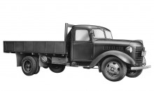 1942 Toyota KB truck evolution from Model G1, more suited to wartime use