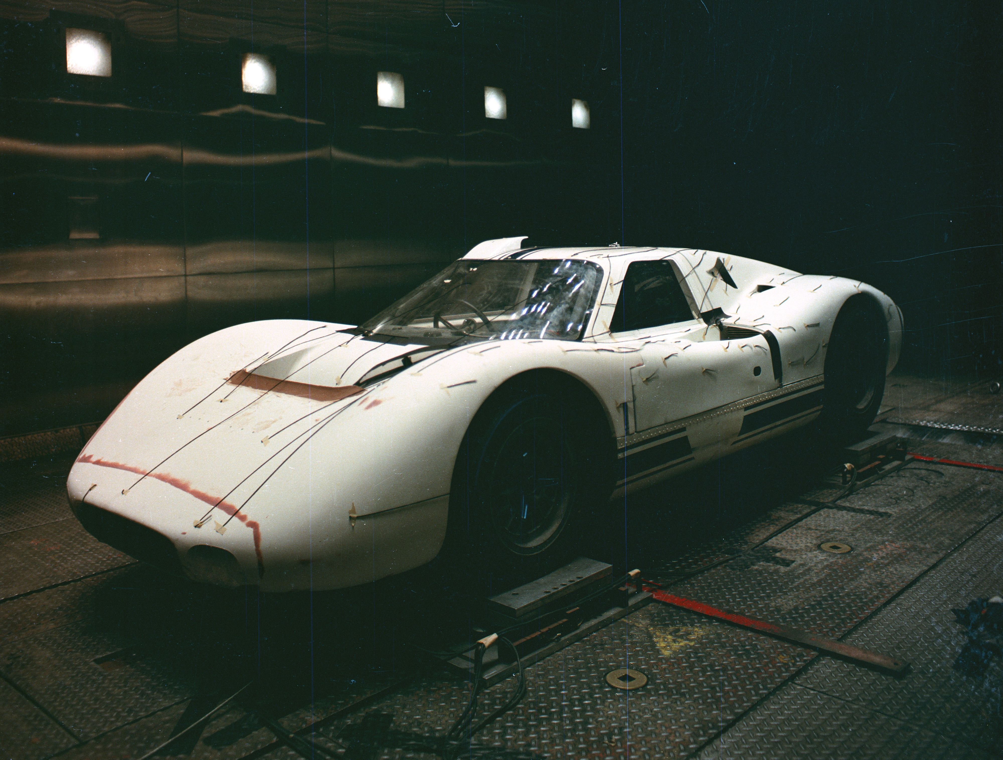 Ford J Car In Wind Tunnel