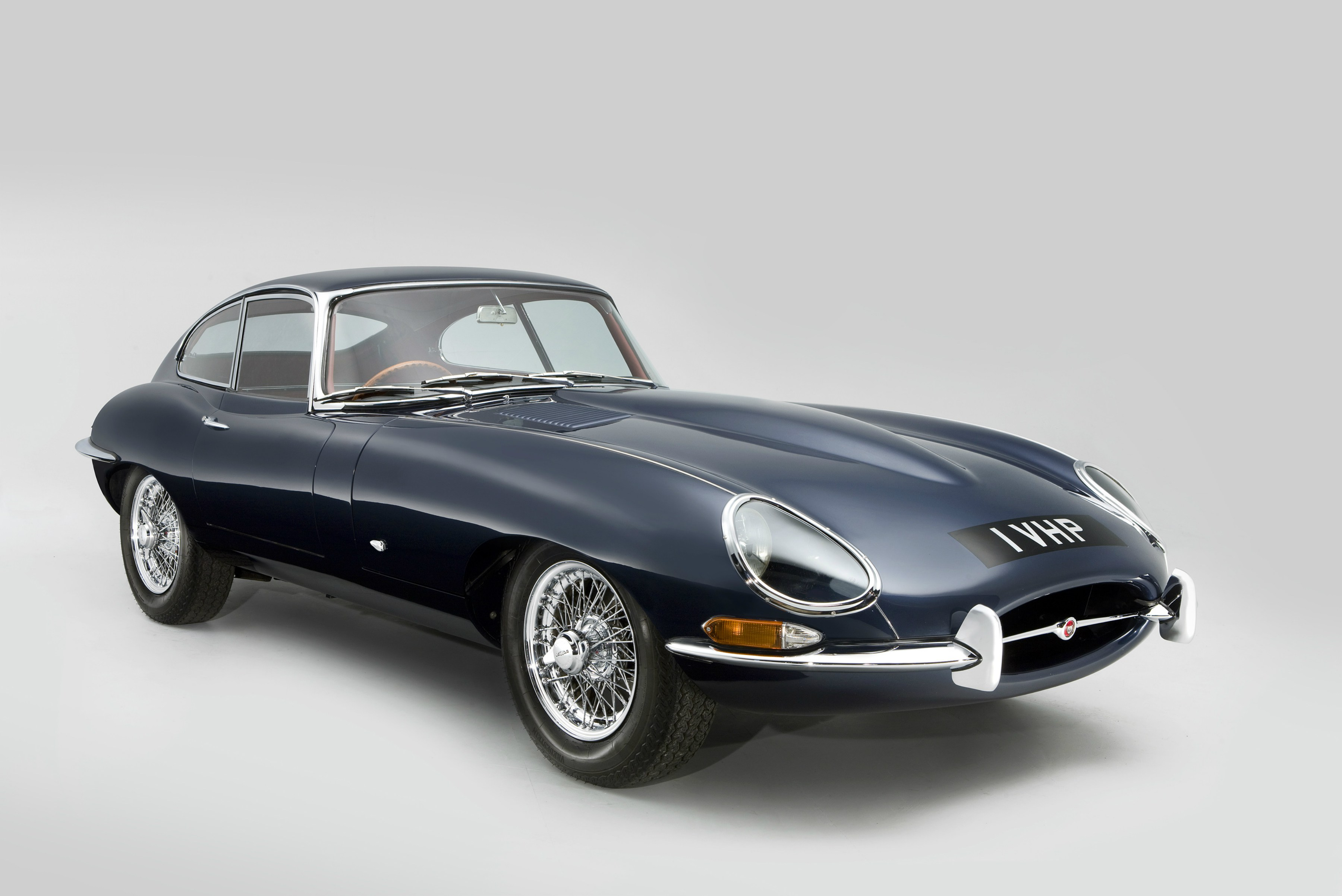 1961 Jaguar E-Type Fixed Head Coupe – the very first right hand drive production