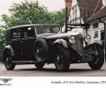 1930 Bentley 8 Litre Limouine