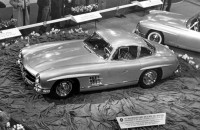 Mercedes-Benz 300 SL Coupé Unveiled at the Motor Sports Show in New York, 1954.