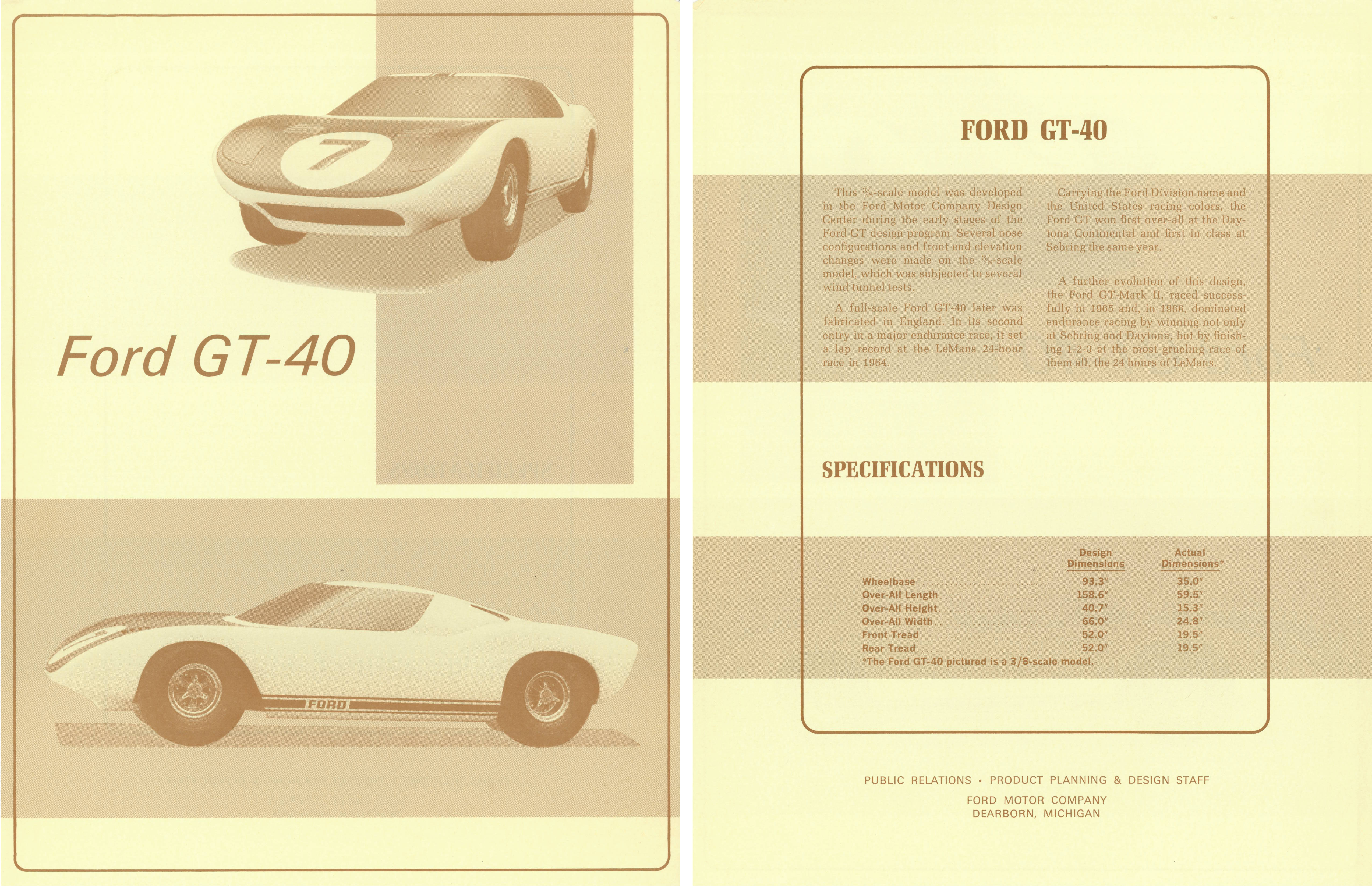 Ford Gt Hero Card