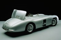 Mercedes-Benz 300SLR sports-racing car, type W 196 S, 1955, 8 cylinders, 3 liters, 310 hp, top speed 186 mph, air brake deployed
