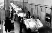 1961 Jaguar E-Type Production Line