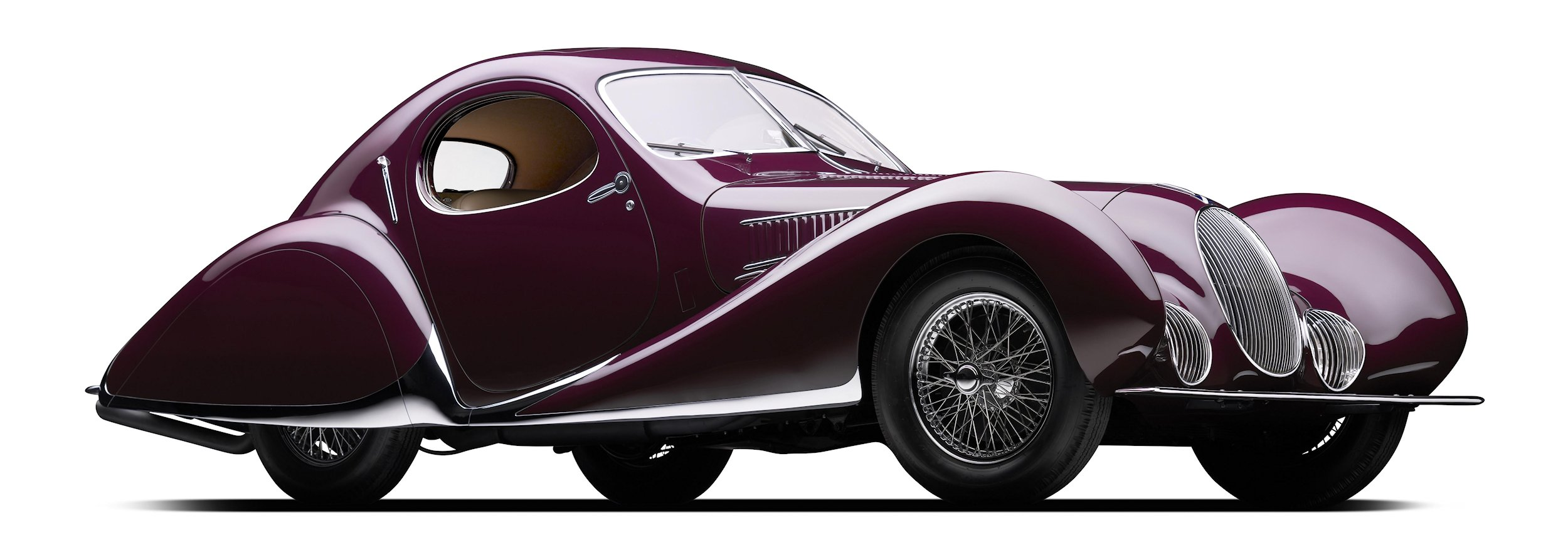 The Mullin Automotive Museum's 1937 Talbot-Lago T150-C SS 'Goutte d'Eau, which was just honored as the very first recipient of the Peninsula Classics Best of the Best Award at The Quail, will be on public display in the Mullin Grand Salon at the Petersen Automotive Museum for the next 10 weeks.