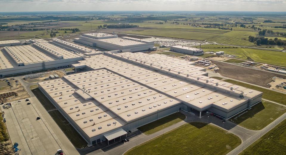 Volkswagen Plant opens in Września, Poland