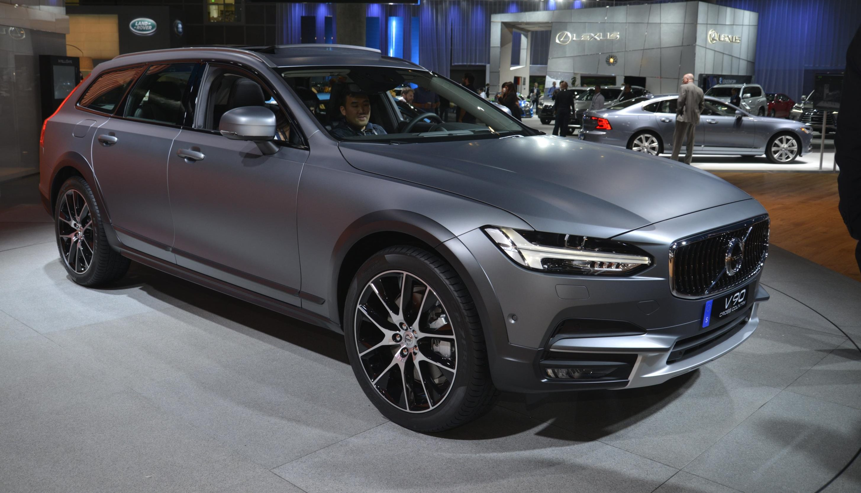 all new volvo v90 cross country and 2017 polestar debuts. Black Bedroom Furniture Sets. Home Design Ideas