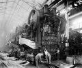 The press room at the Dodge Main plant circa 1918