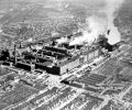 Aerial view of the Dodge Main plant circa 1930's