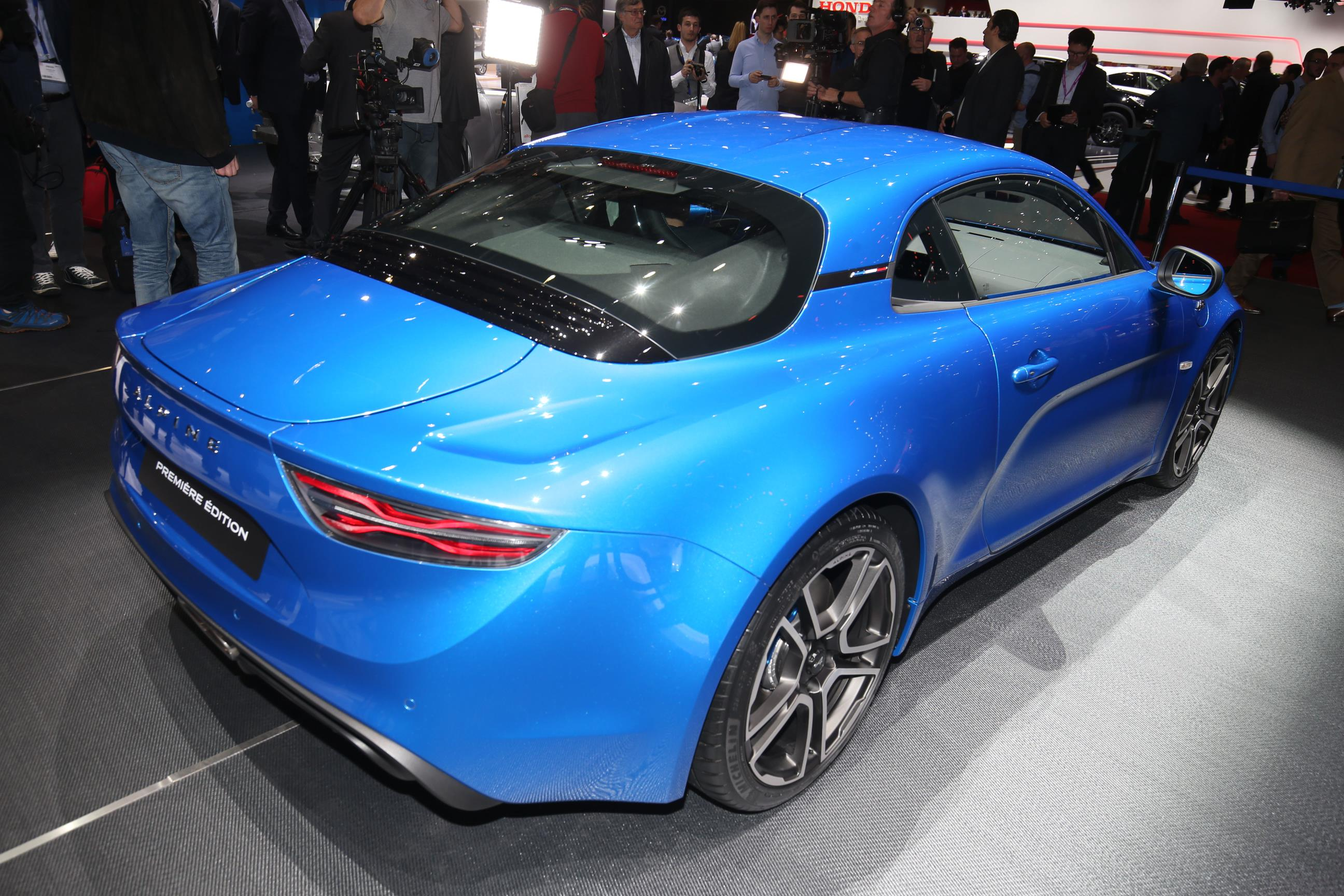alpine a110 makes debut at geneva. Black Bedroom Furniture Sets. Home Design Ideas