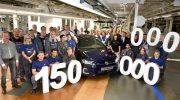 150 MILLIONTH VOLKSWAGEN LEAVES ASSEMBLY LINE AT MAIN PLANT IN WOLFSBURG